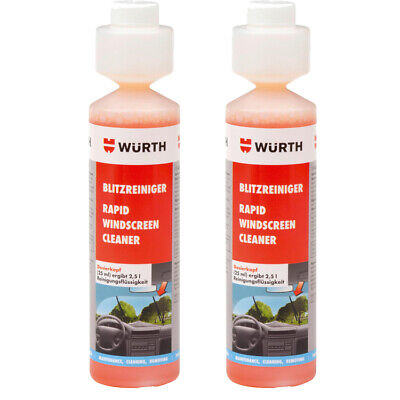 Genuine Wurth Rapid Windscreen Cleaner 250 ml Concentrate Screen Wash Twin Pack