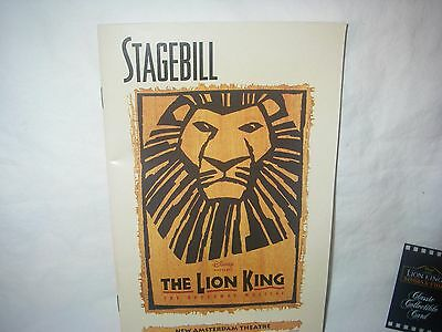 Lion King Stagebill New Amsterdam Theatre Classic Collectible Card Bonus #113