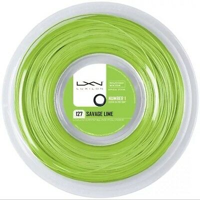 Luxilon 127 Savage Tennis String - 1.27Mm 16G - 220M Reel - Lime - Rrp £250