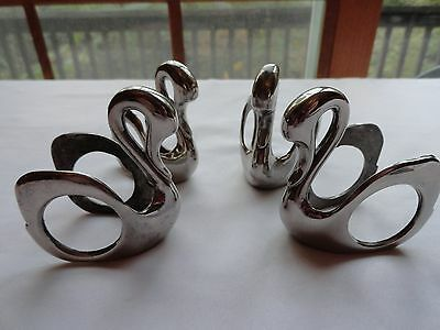 Set Of Four Vintage Silver Plate Napkin Rings - Marked R. Smith 321