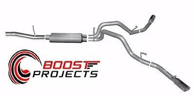 Gibson CAT-BACK DUAL EXTREME EXHAUST SYSTEM, ALUMINIZED 5658