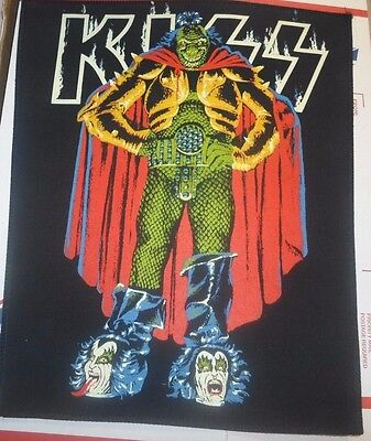 "Vintage KISS Large Jacket Demon Patch 13.5""x 12"" Ace Gene Paul Peter Unused Rare"