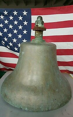 Vintage Ship Bell (1942) Big And Heavy -  Must See!!