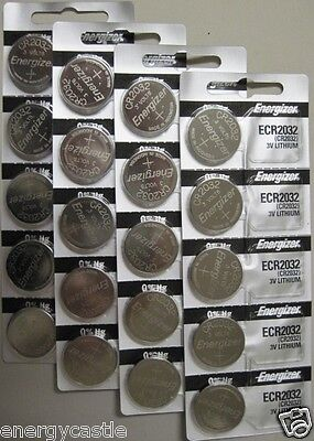 "20 ""Fresh"" ""Genuine"" Energizer CR2032 3v Lithium Coin Batteries"