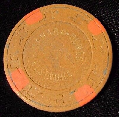 Vintage .50 cent Lake Elsinore Sahara Dunes Casino Poker Gaming Gambling Chip CA