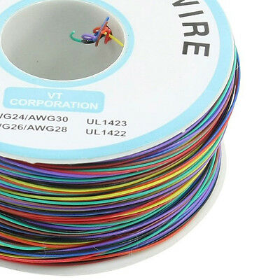 P/N B-30-1000 200M 30AWG 8-Wire Colored Insulation Wrapping Cable SY AU
