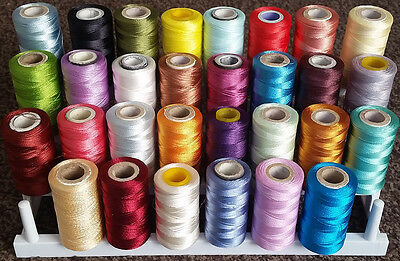 30 Rayon Embroidery Machine Thread Spools 30 Different Colours **AP