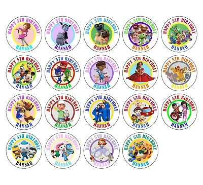 30 Disney Junior Jr Birthday Sticker Lollipop Label Party Favors 1.5 in YOU PICK