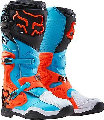 New 2016 Fox Racing Comp 8 Mx Offroad Boots- Aqua