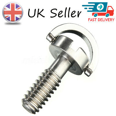 "UK Long 1/4"" D-Ring Screw Stainless Steel For Camera Tripod Quick Release Plate"