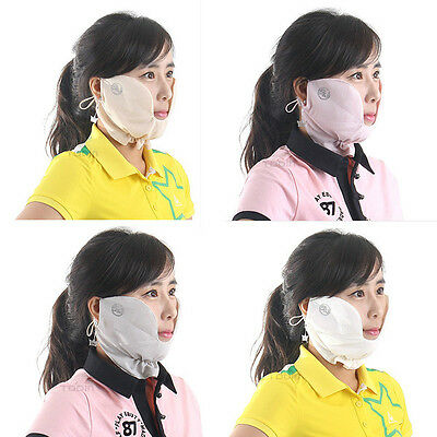 summer CHEEK MASK golf sun block UV protection open mouth face shade accessory