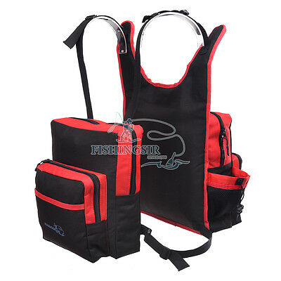 FishingSir Fly Fishing Backpack Vest Chest Bag Reels Pliers Tackle Boxes Storage