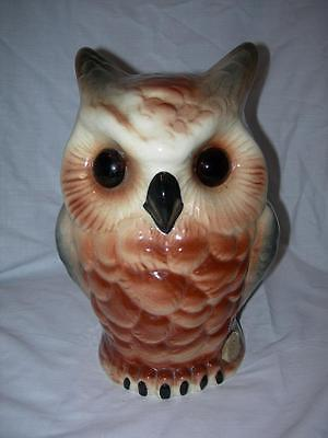 Wembley Ware Owl Lamp Base~Signed Inside & Foil Label Intact~Australian Pottery