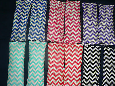HANDMADE BABY CAPSULE / CAR /PRAM /HIGH CHAIR PADDED SEAT BELT COVERS Chevron