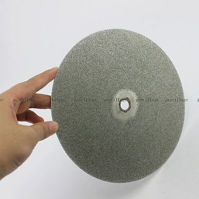 "8"" Inch Grit 60# Diamond Coated Flat Lap Wheel Jewelry Lapidary Polishing Disc"