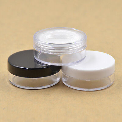 3PCS/20g Empty Cosmetic Jars Pots With Powder Sifter Loose Powder Container Set