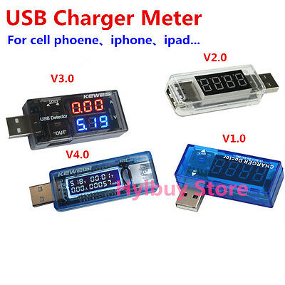 USB Charger Meter Changing Voltage Current Watt detector for iPhone Power Bank