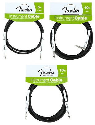 Fender Performance Series Instrument Cables | Guitar Lead | Length Options