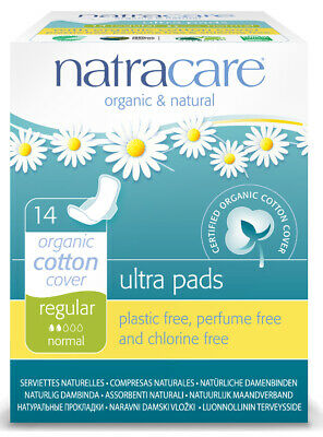 Natracare Ultra Pads Reg with Wings 14 Pieces
