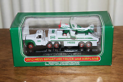 Hess Gasoline 2012 Miniature Truck and Airplane