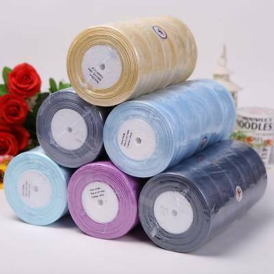 Sheer Woven Edge Organza Ribbon 50yards  7 12 25 38mm Wide Bows Crafts