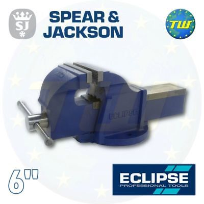 "Spear & Jackson Eclipse 6"" Workshop Garage Mechanics Engineers Bench Vice EMV-6"