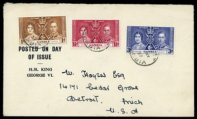 Gambia Nr. 120-22 FDC (1696007313)