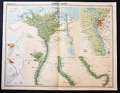 c1920 Times Atlas map of Lower Egypt