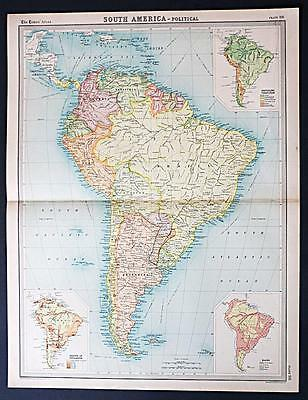 c1920 Times Atlas map of South America