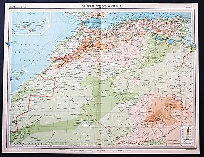 c1920 Times Atlas map of North West Africa