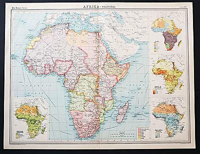 c1920 Times Atlas map of Africa - Political
