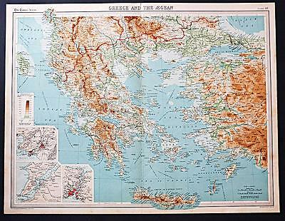 c1920 Times Atlas map of Greece and the Aegean