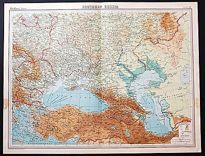 c1920 Times Atlas map of Southern Russia
