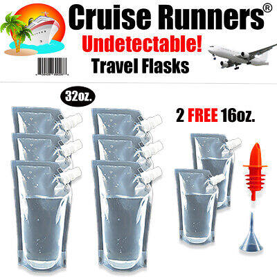 Cruise Flask Kit Rum Runners For Cruise Sneak Alcohol Liquor Bag Smuggle Booze