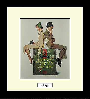 Norman Rockwell GAIETY DANCE TEAM Framed Couples Dancing Wall Hanging Art Gift