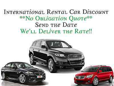 International Car Rental Discount. Send A Date And Get Your Rate