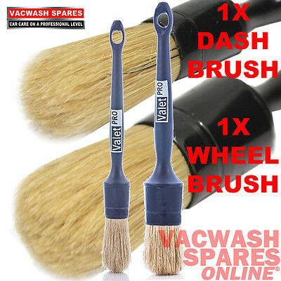 Valetpro Sash Detail Brushes Alloy Wheels And Dash / Valeting / Brush Set Of 2