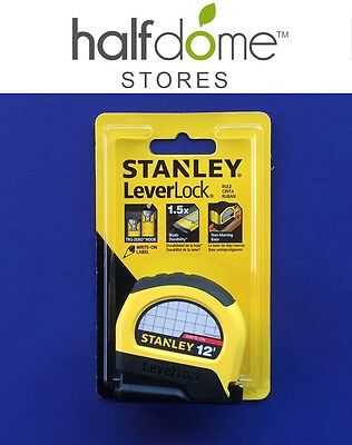 STANLEY LeverLock 12' Measuring Tape Rulers STHT30810 Measuring Tool Yellow NEW