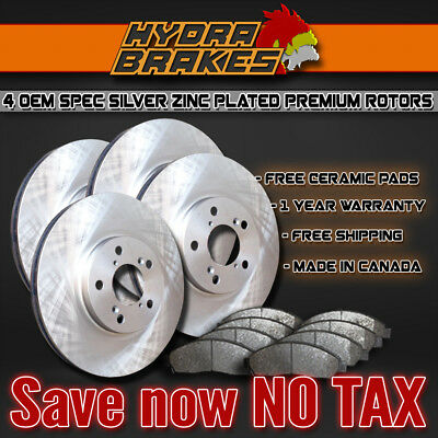 Fits 2009 2010 2011 2012 Ford Fusion Oe Blank Brake Rotors Ceramic Slv