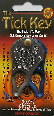 Tick Key, aluminium tick removal device. TWIN PACK.