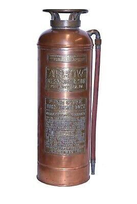 Antique Copper Arrow M.L. Snyder and Sons Fire Extinguisher Philadelphia, PA
