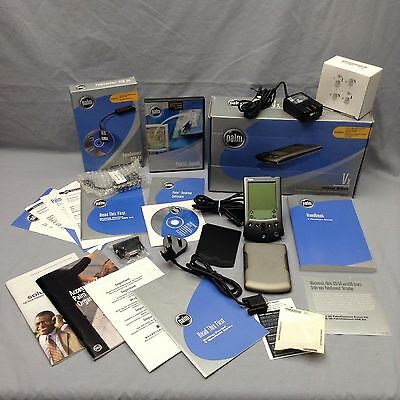 Palm Vx Handheld Ultra Slim Cradle Software Attachments Booklets More
