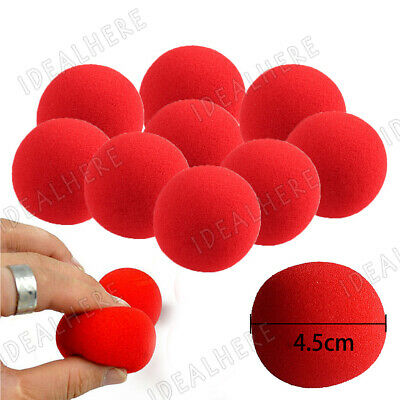 10pcs Super Soft Red Sponge Balls Close-Up Comedy Magic Street Party Trick Prop