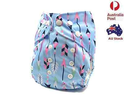 Reusable Modern Cloth Nappies Washable Baby Diaper Pocket Nappy + Inserts (D61)