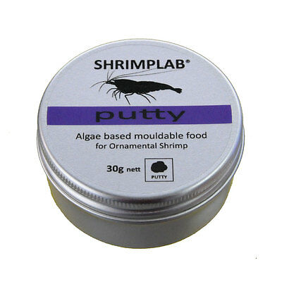 Shrimplab Putty 30g - Mouldable Complete Food for Crystal Tiger Cherry Shrimp
