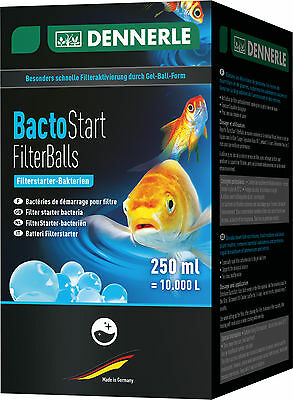 NEW - Dennerle Bacto Start Pond & Aquarium Filter Bacteria Balls for 10,000L
