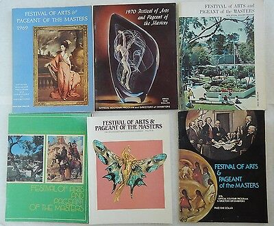 Lot 6 Festival Of Arts Pageant Of The Masters Souvenir Program Vtg 69-86 Laguna