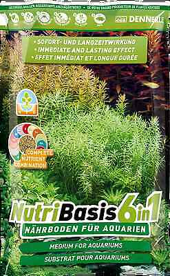 Dennerle NutriBasis 6in1 Top Quality Aquarium Plant Soil Substrate 2.4kg