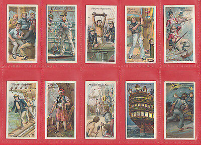 Military - John Player & Sons - Set Of 50 Life On Board A Man Of War - 1905