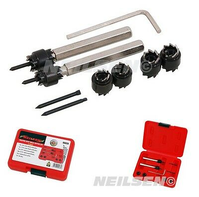 """MASTER SPOT WELD CUTTER SET 3/8"""" & 5/16"""" Size 6 x Double sided cutting tool bits"""